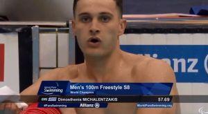 Παγκόσμιος πρωταθλητής ο Μιχαλεντζάκης στα 100μ. ελεύθερο S8