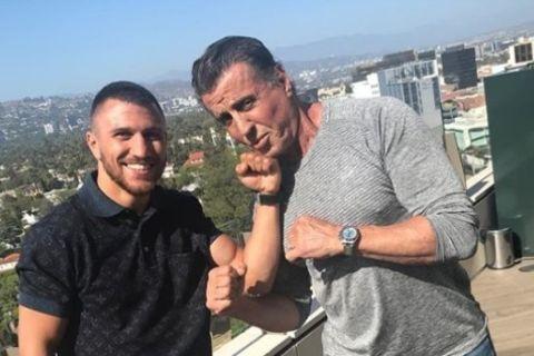 Γεύμα-μυστήριο Stallone και Lomachenko