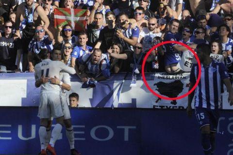Οπαδός έδειξε τον... πισινό του στο γκολ του Ρονάλντο