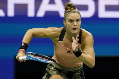 Η Μαρία Σάκκαρη με τον αγώνα απέναντι στην Έμμα Ραντουκάνου στο US Open.