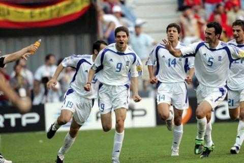 Η προπόνηση των διεθνών του 2004 ενόψει Ισπανίας