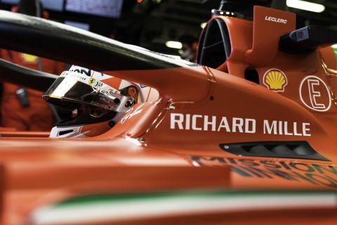 Ο Σαρλ Λεκλέρκ στο μονοθέσιο της Ferrari