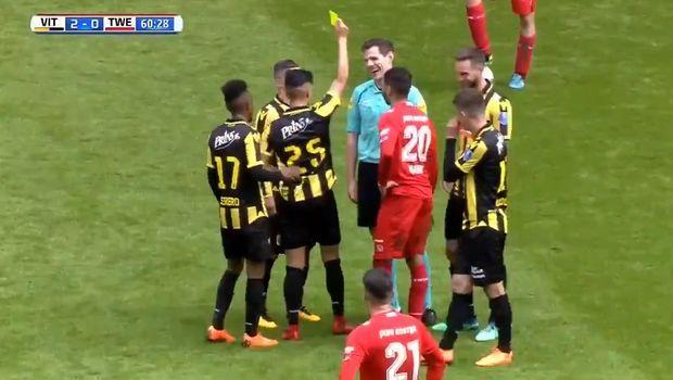 Διαιτητής δέχθηκε κίτρινη κάρτα από... ποδοσφαιριστή!