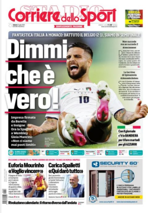 Το πρωτοσέλιδο της Corriere Dello Sport
