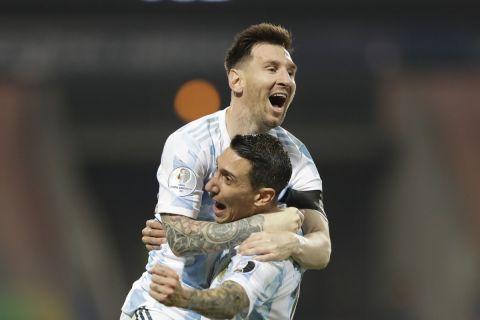 Ο Μέσι πανηγυρίζει στο Copa America