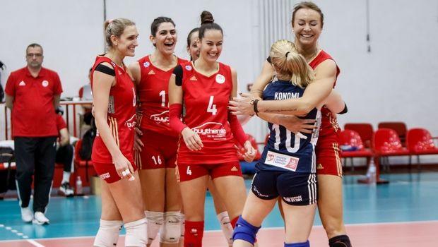 Volleyleague γυναικών: Ο Ολυμπιακός έκλεισε τη χρονιά στην κορυφή