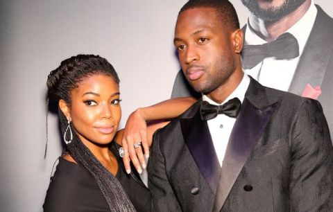 Gabrielle Union and Dwyane Wade arrive during the RunWade Fashion Show on Saturday, Nov. 14, 2015 in Miami, Fla. (Photo by Omar Vega/Invision/AP)