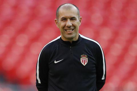 Ο Λεονάρντο Ζαρντίμ κατά την παρουσίασή του ως προπονητής της Μονακό
