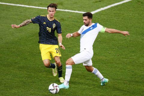 Φάση από την αναμέτρηση Ελλάδα - Σουηδίας με τους Μπακασέτα - Όλσον | 8 Σεπτεμβρίου 2021