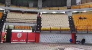 Ολυμπιακός – Παναθηναϊκός: Το προστατευτικό δίχτυ στο ΣΕΦ