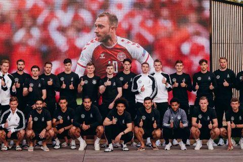 Οι παίκτες της εθνικής Γερμανίας στέλνουν ένα ξεχωριστό μήνυμα συμπαράστασης στον Κρίστιαν Έρικσεν
