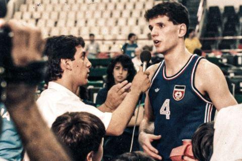 Ο Βασίλης Σκουντής με τον Ντράζεν Πέτροβιτς