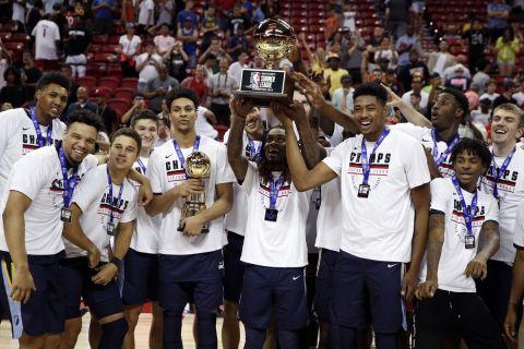 Η ομάδα των Μέμφις Γκρίζλις που κατέκτησε το Summer League του ΝΒΑ το 2019 στο Λας Βέγκας