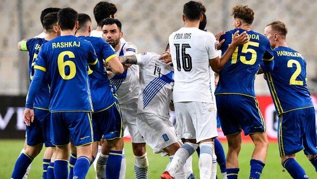 Ένταση στο φινάλε του αγώνα Ελλάδα - Κόσοβο