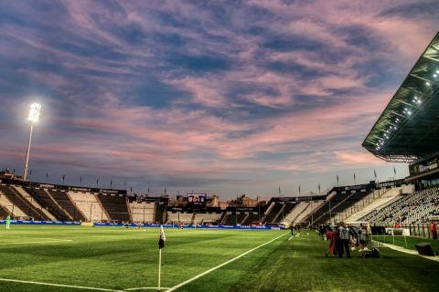 Η Τούμπα πριν από την αναμέτρηση του ΠΑΟΚ με τον Αστέρα για τα playoffs της Super League Interwetten.