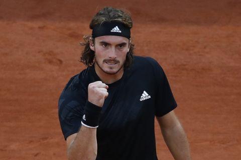 Ο Στέφανος Τσιτσιπάς κατά τη διάρκεια του Roland Garros