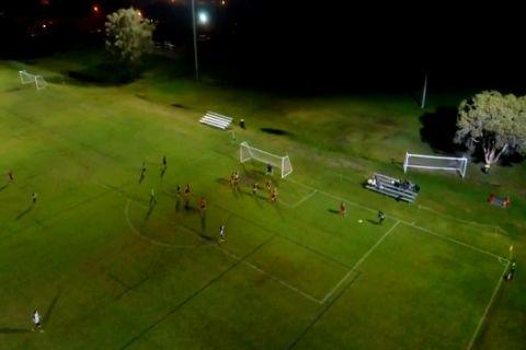 Μετάδοση ποδοσφαιρικού αγώνα live με drone!