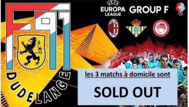 Η Ντουντελάνζ ανακοίνωσε sold out για τα τρία ματς του Europa League