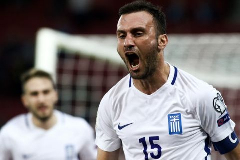 10/10/2017 Greece vs Givraltar for the European Qualifiers group for World Cup Russia 2018, in Karaiskaki Stadium, in Piraeus Greece  Photo by: Andreas Papakonstantinou / Tourette Photography