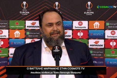"""Μαρινάκης: """"Όπως είπα και στα παιδιά, Ελλάδα - θρύλος - θρησκεία μέσα στην Τουρκία, η νίκη θύμισε το μπάσκετ το 2012"""""""