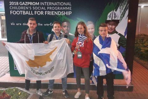 """Έφτασε στη Μόσχα η Ελληνική αποστολή του """"Ποδόσφαιρο για τη Φιλία 2018"""""""