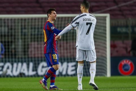 Κριστιάνο Ρονάλντο και Λιονέλ Μέσι σε αγώνα της Γιουβέντους με την Μπαρτσελόνα στο Champions League | 8 Δεκεμβρίου 2020