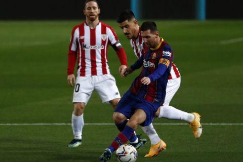 Ο Λιονέλ Μέσι με τη φανέλα της Μπαρτσελόνα σε αναμέτρηση κόντρα στην Αθλέτικ Μπιλμπάο για την La Liga
