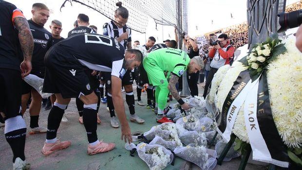ΠΑΟΚ - Απόλλων Σμύρνης: Τίμησαν τα θύματα των Τεμπών πριν την σέντρα (VIDEO)