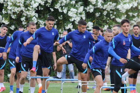 Οι παίκτες της Εθνικής Ελλάδας στην πρώτη προπόνηση ενόψει των φιλικών με Βέλγιο και Νορβηγία