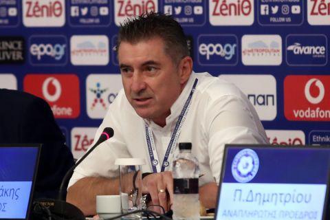 Ο Θοδωρής Ζαγοράκης στη γενική συνέλευση της ΕΠΟ | 27 Αυγούστου 2021