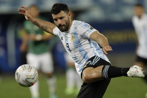 Ο Σέρχιο Αγκουέρο με τη φανέλα της εθνικής Αργεντινής