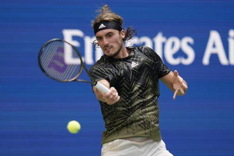 Ο Στέφανος Τσιτσιπάς στο US Open