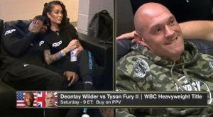 """Η επική στιγμή που ο Fury την """"πέφτει"""" στη γυναίκα του Wilder στα backstage"""