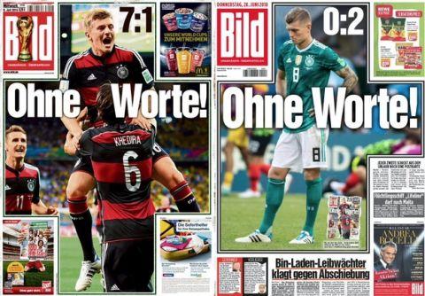 """Η """"Bild"""" βγήκε με το ίδιο πρωτοσέλιδο όπως μετά το 7-1 επί της Βραζιλίας!"""