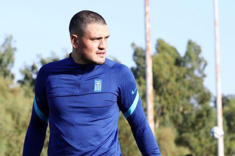 Ο Κυριάκος Παπαδόπουλος σε προπόνηση της Εθνικής Ελλάδας | 30 Αυγούστου 2021