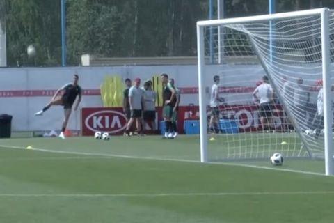 Το τρομερό γκολ του Ρονάλντο στην προπόνηση της Πορτογαλίας