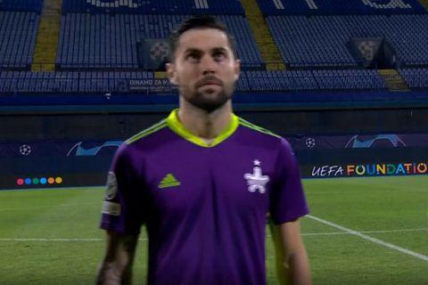 Ο Γιώργος Αθανασιάδης από το ματς της Σερίφ με τη Ντίναμο στην Κροατία   25 Αυγούστου 2021