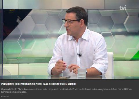 """""""Στην Πορτογαλία ο πρόεδρος του Ολυμπιακού για να διαπραγματευτεί για Σεμέδο και Σα"""""""