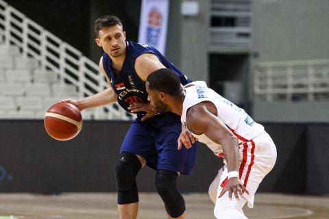 Στιγμιότυπο από το ματς Πουέρτο Ρίκο - Σερβία για το τουρνουά Ακρόπολις