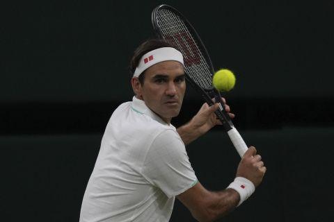 Ο Ρότζερ Φέντερερ στο Wimbledon