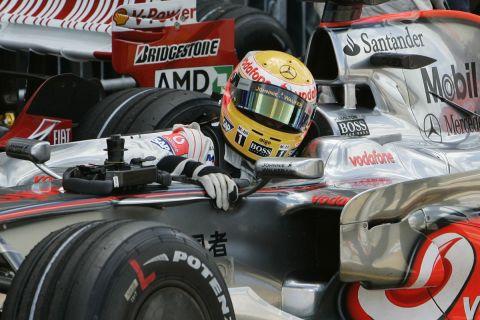 Ο Χάμιλτον στο GP της Βρετανίας το 2008
