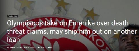 Ο Εμενίκε διέψευσε ότι δέχτηκε απειλές για τη ζωή του