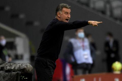 Ο προπονητής της Λιλ, Κριστόφ Γκαλτιέ