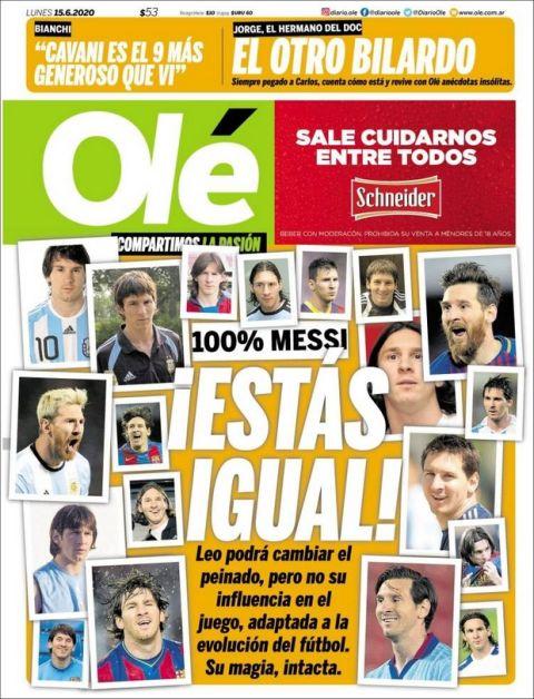 Olé για Μέσι: Πολλά look, ίδια επιρροή