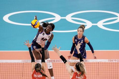 Η Πάολο Ογκέτσι Εγκόνου στην αναμέτρηση με την Τουρκία για τους Ολυμπιακούς Αγώνες του Τόκιο