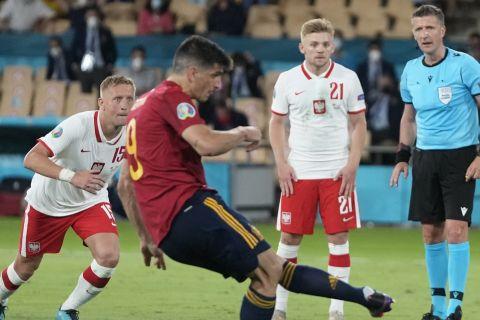 Ο Ζεράρ Μορένο χάνει πέναλτι στο Ισπανία - Πολωνία για το Euro 2020.