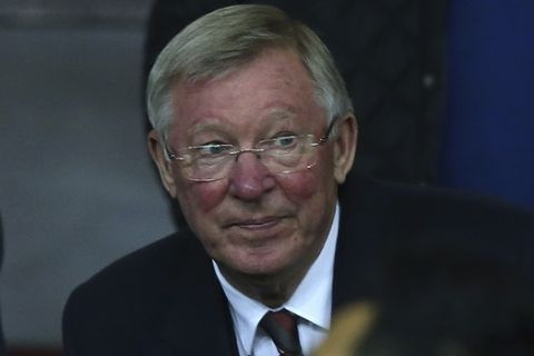 Former Manchester United manager Alex Ferguson in the stands ahead of the Europa League Group A soccer match between Manchester United and Fenerbahce at Old Trafford stadium in Manchester, England, Thursday, Oct. 20, 2016. (AP Photo/Dave Thompson)