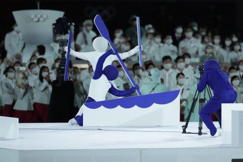 Στιγμή απ' την τελετή έναρξης των Ολυμπιακών Αγώνων στο Τόκιο 2020.