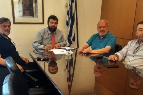 Προγραμματικές συμβάσεις Βασιλειάδη με τον Δήμαρχο Αμυνταίου