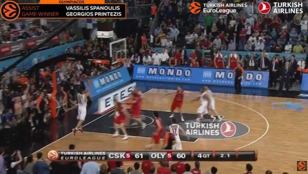 Το πεταχτάρι του Πρίντεζη κορυφαία στιγμή στους τελικούς της EuroLeague
